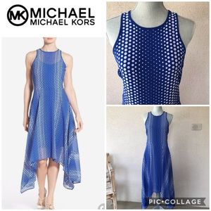 MICHAEL Kors Blue & White Sleeveless Dress sz 2